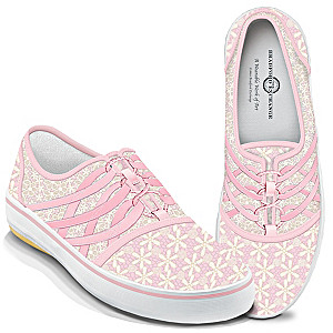 """Laced With Hope"" Breast Cancer Awareness Women's Shoes"