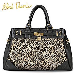 "Alfred Durante ""Nairobi"" Designer Handbag With Leopard Print"
