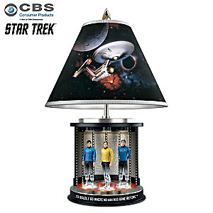 STAR TREK Tabletop Lamp With Illuminated Transporter Base