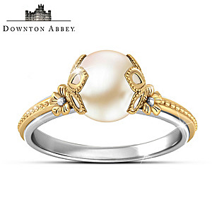 "Downton Abbey ""Gilded Age"" Cultured Freshwater Pearl Ring"