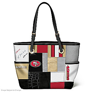 49ers For The Love Of The Game Tote Bag With Team Logos