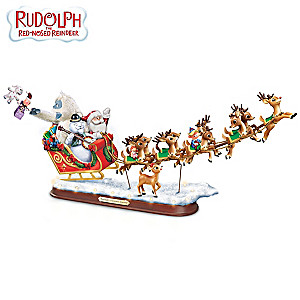 """Rudolph's Christmas Journey"" 50th Anniversary Sculpture"