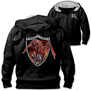 """Unleash The Spirit"" Red Dragon Men's Hoodie"