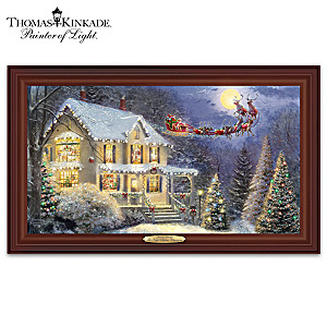 Thomas Kinkade The Night Before Christmas Lighted Wall Decor