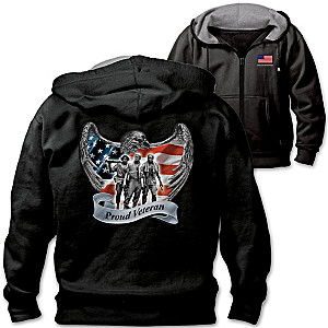 """Veterans Pride And Brotherhood"" Men's Fleece Hoodie"