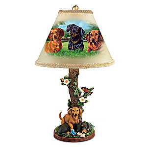 "Linda Picken ""Darling Dachshunds"" Accent Table Lamp"