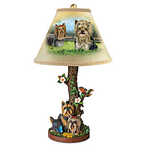"Linda Picken ""Youthful Yorkies"" Table Lamp"