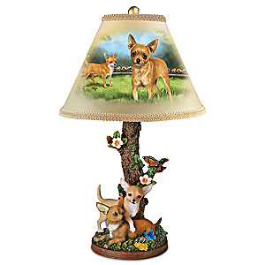 "Linda Picken ""Charming Chihuahuas"" Table Lamp"
