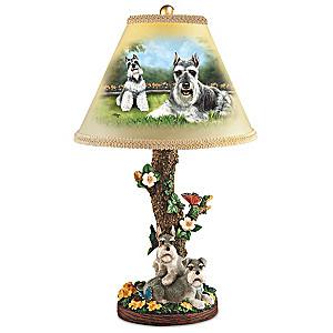 "Linda Picken ""Sweet Schnauzers"" Table Lamp"