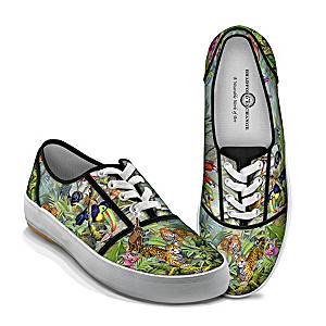 "Tim Knepp ""Animal Kingdom"" Women's Canvas Art Sneakers"