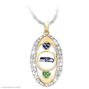 """For The Love Of The Game"" Seattle Seahawks Crystal Pendant"