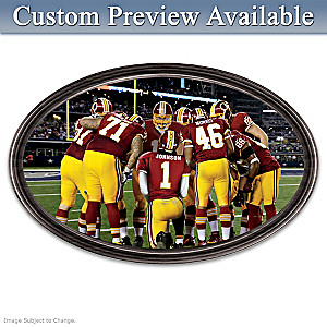 Redskins Framed Wall Decor With Your Name On QB's Jersey