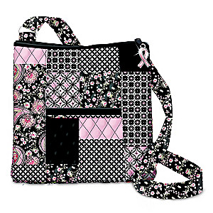 Hope Connects Us All Breast Cancer Awareness Quilted Handbag