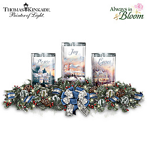 "Thomas Kinkade ""Light Of The Season"" Illuminated Centerpiece"