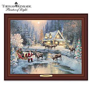 Thomas Kinkade Christmas At Deer Creek Lighted Canvas Print