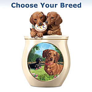 Linda Picken Dog Art Ceramic Cookie Jar: Choose Your Breed