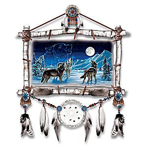 Cynthie Fisher Starlight Serenade Glow-In-The-Dark Wolf Art