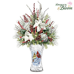 "James Hautman ""Winter Cardinals"" Illuminated Centerpiece"