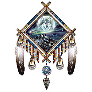 """Al Agnew """"Summoning The Pack"""" Glow-In-The-Dark Dreamcatcher"""