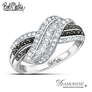"Bob Mackie ""Night And Day"" Diamonesk Simulated Diamond Ring"