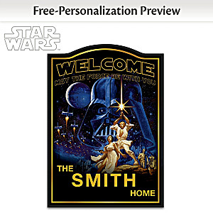 Star Wars Wooden Welcome Sign Personalized With Name