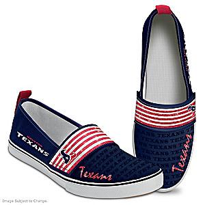 NFL-Licensed Houston Texans Women's Slip-On Shoes
