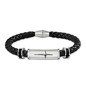 """Foundation Of Faith"" Men's Sapphire Bracelet"