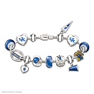 Kentucky Wildcats Charm Bracelet With Swarovski Crystals