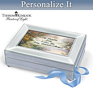 Thomas Kinkade Music Box Personalized With Daughter's Name