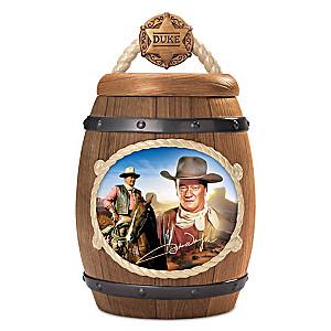 "John Wayne ""One Tough Cookie"" Cookie Jar With Images of Duke"