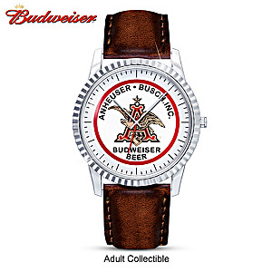 """Budweiser """"King Of Beers"""" Men's Retro Watch With Engraving"""
