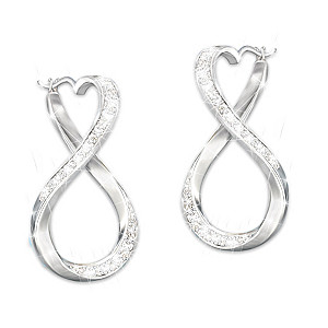"""""""Forever My Granddaughter"""" Engraved Genuine Diamond Earrings"""