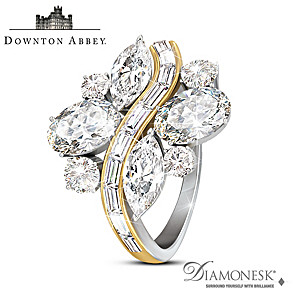 "Downton Abbey ""Belle Of The Ball"" Diamonesk Ring"