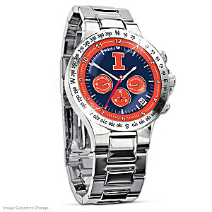 Fighting Illini Commemorative Chronograph Watch