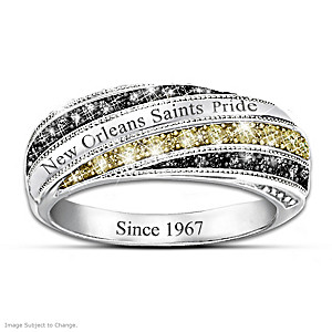 """Saints In Vogue"" Engraved Fashion Ring"