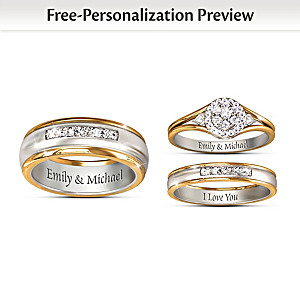 Together Forever Customized His & Hers Diamond Wedding Rings
