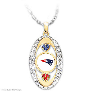 """For The Love Of The Game"" Patriots Crystal Pendant"