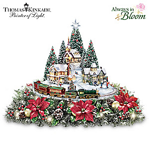 Thomas Kinkade Village Centerpiece: Lights, Music and Motion
