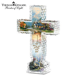 "Thomas Kinkade ""Inspirations Of Hope"" Crystalline Cross"