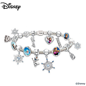 Disney Frozen Heirloom Beaded Charm Bracelet