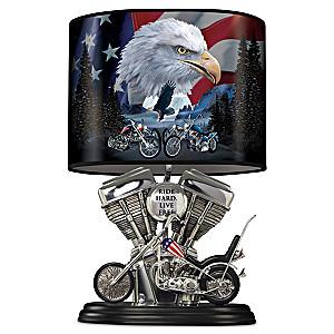 """Spirit Of The Road"" Sculptural Motorcycle Lamp"