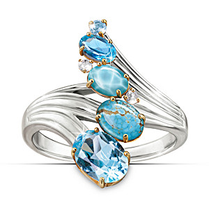 """""""Serenity Journey"""" Ring With Six Different Gemstones"""