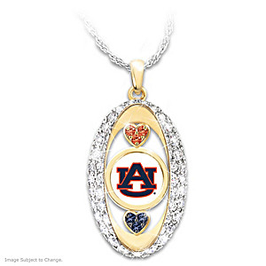 """For The Love Of The Game"" Auburn Tigers Pendant"
