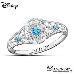 "Disney FROZEN ""Enchanted Snowflake"" Diamonesk Ring"