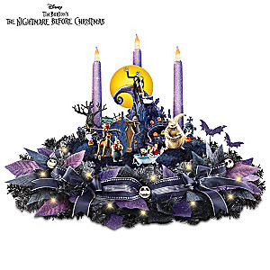Disney The Nightmare Before Christmas Light Up Table Centerpiece - Nightmare Before Christmas Light