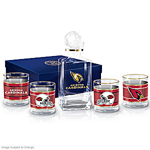 Arizona Cardinals Five-Piece Decanter And Glasses Set
