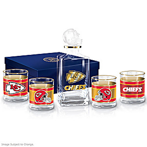 Kansas City Chiefs Five-Piece Decanter And Glasses Set