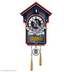 Detroit Tigers Tribute Wall Clock