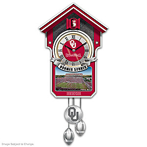 University Of Oklahoma Sooners Wall Clock