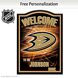 Anaheim Ducks® Welcome Sign Personalized With Name